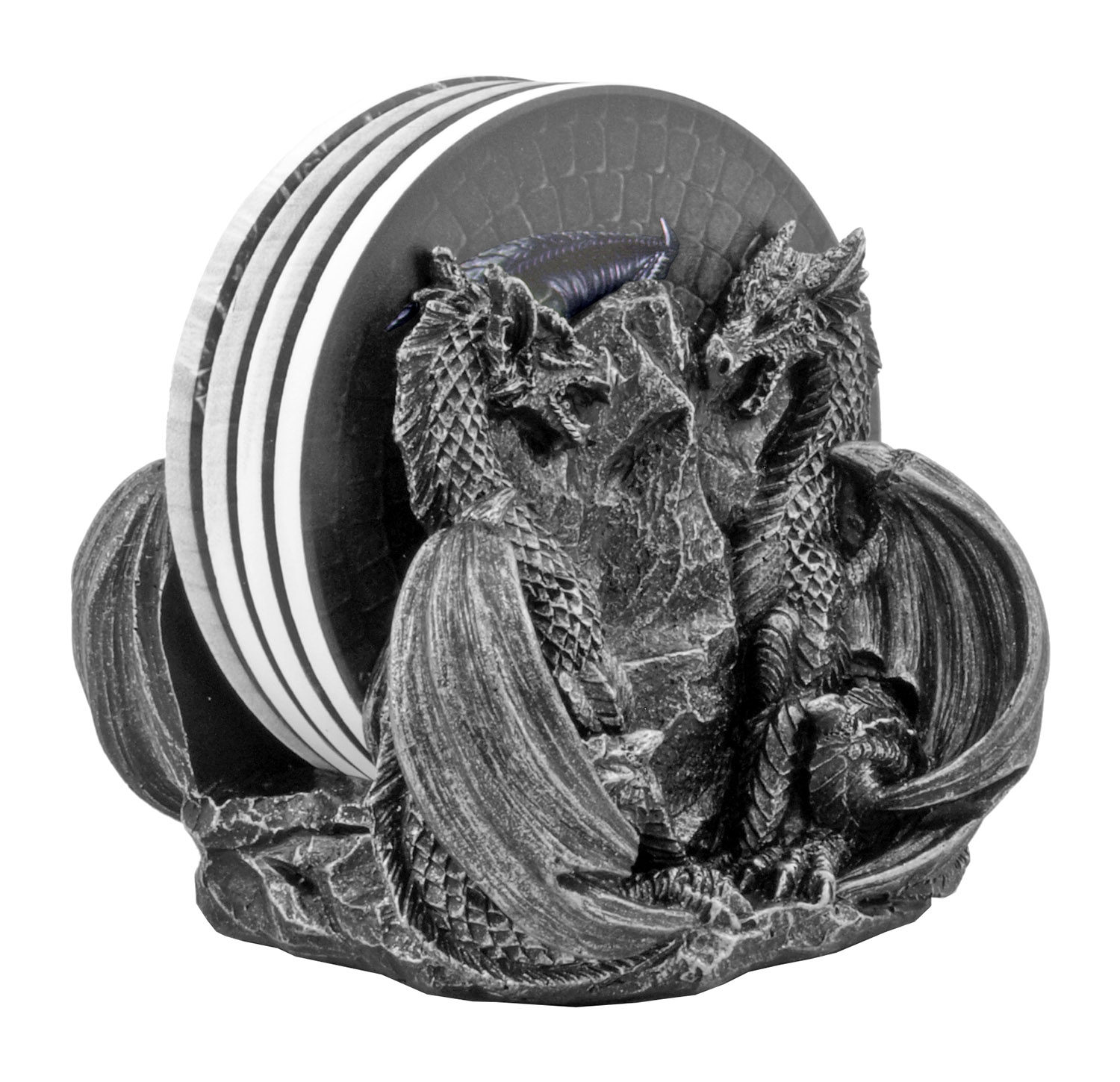 Fire and Fury Castle Dragon Drink Cup Coaster Holder - DWK