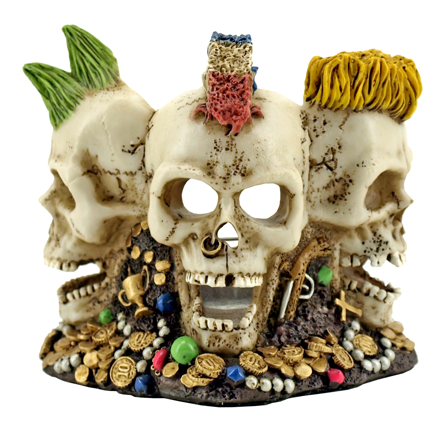 Mardi Gras Skulls Tea Candle Holder