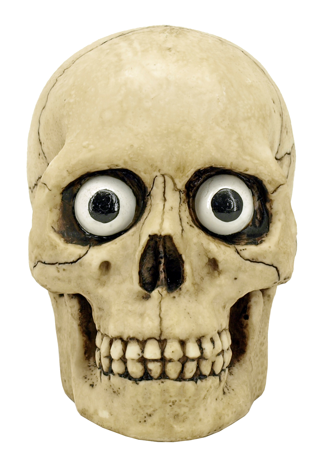 Skull with Eyes Statue Figurine