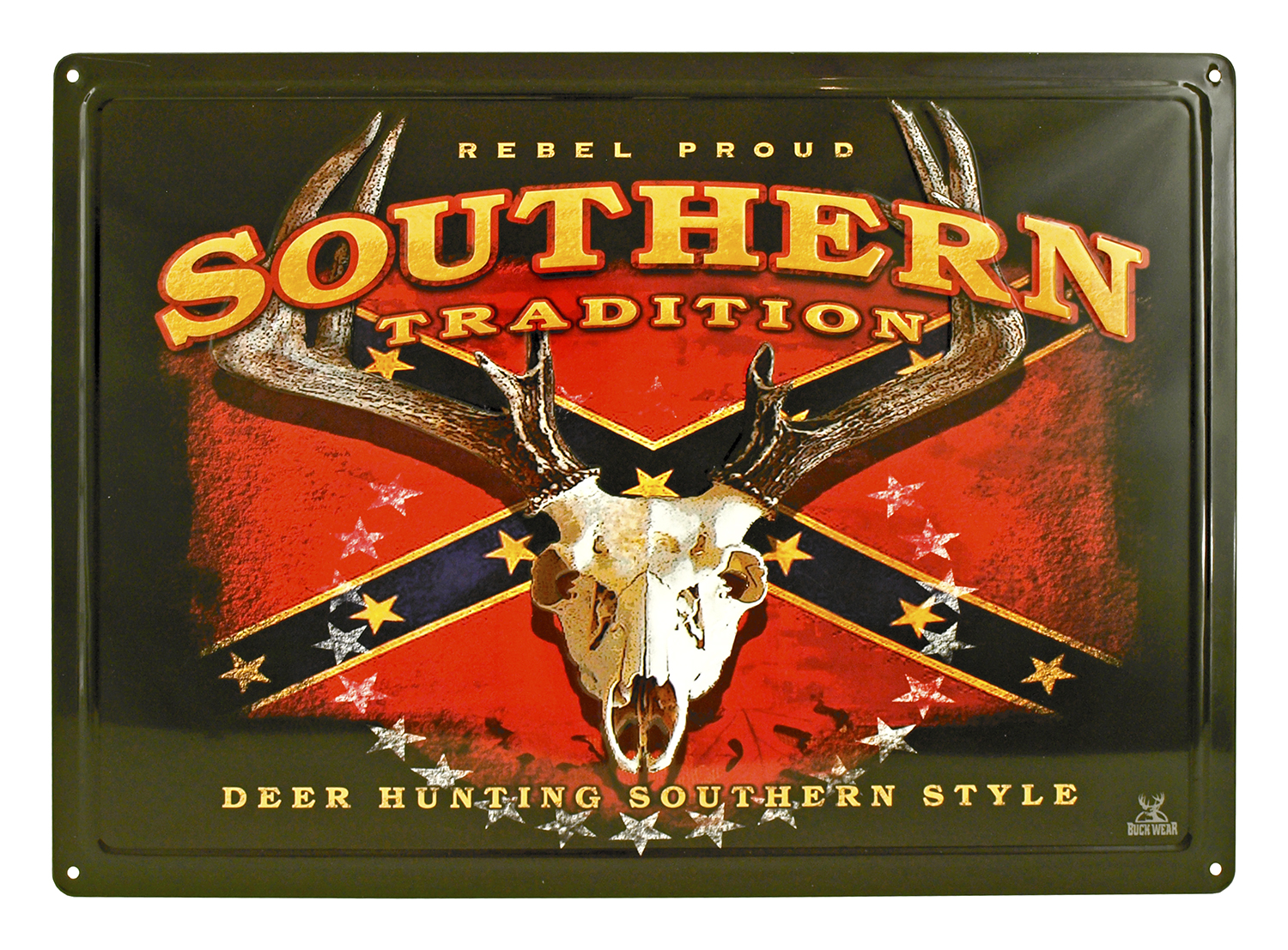 Southern Tradition Confederate Flag Metal Sign