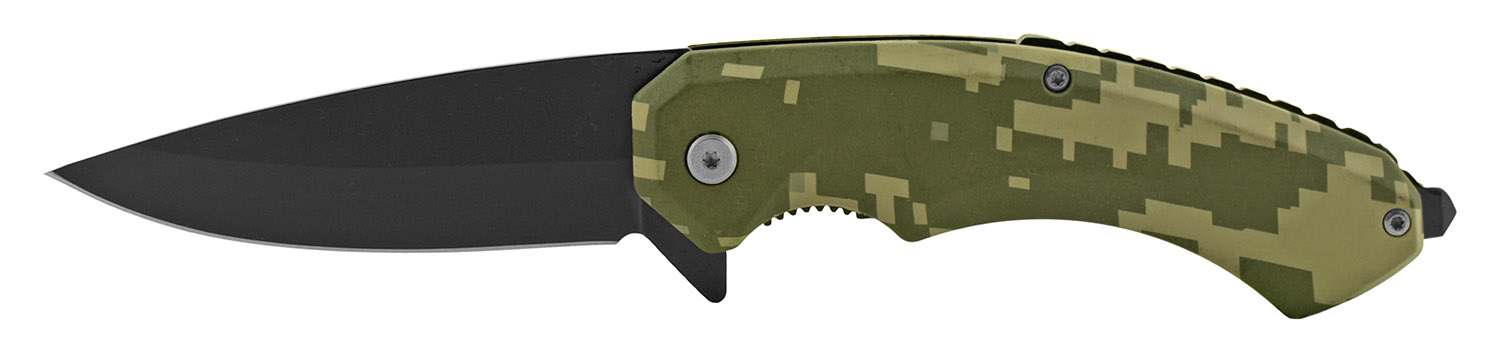 5 in Classic Spring Assisted Folding Pocket Knife - Digital Camo