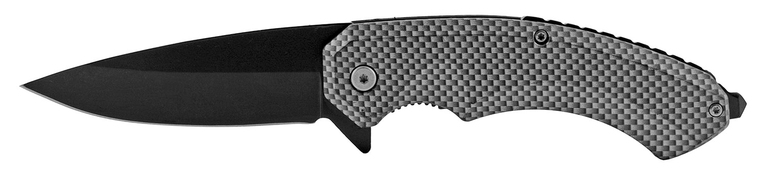 5 in Classic Spring Assisted Folding Pocket Knife - Carbon Fiber
