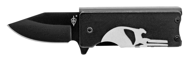 2.63 in Spring Assisted Folding Knife Pocket Knife Lighter Holder - Punisher Skull
