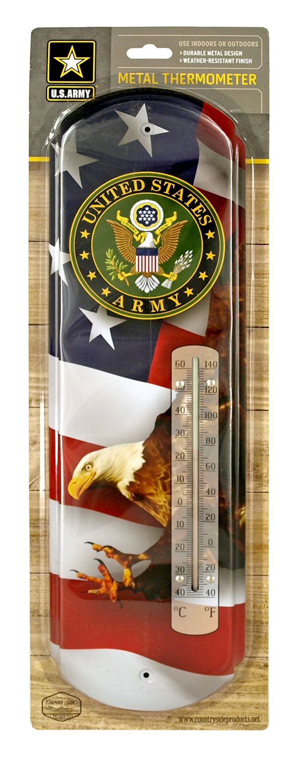 US Army American Eagle Metal Thermometer