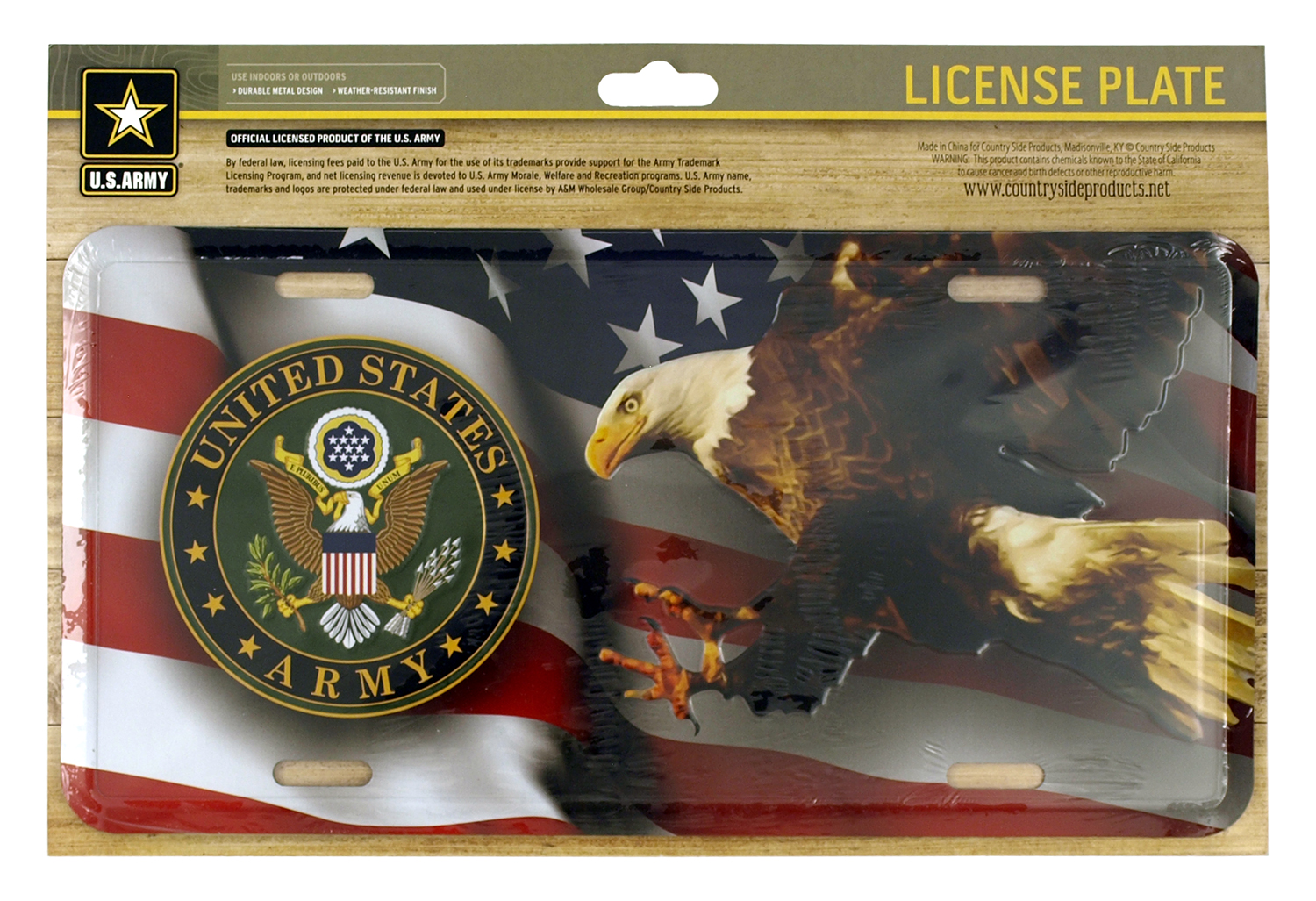 US Army American Eagle License Plate