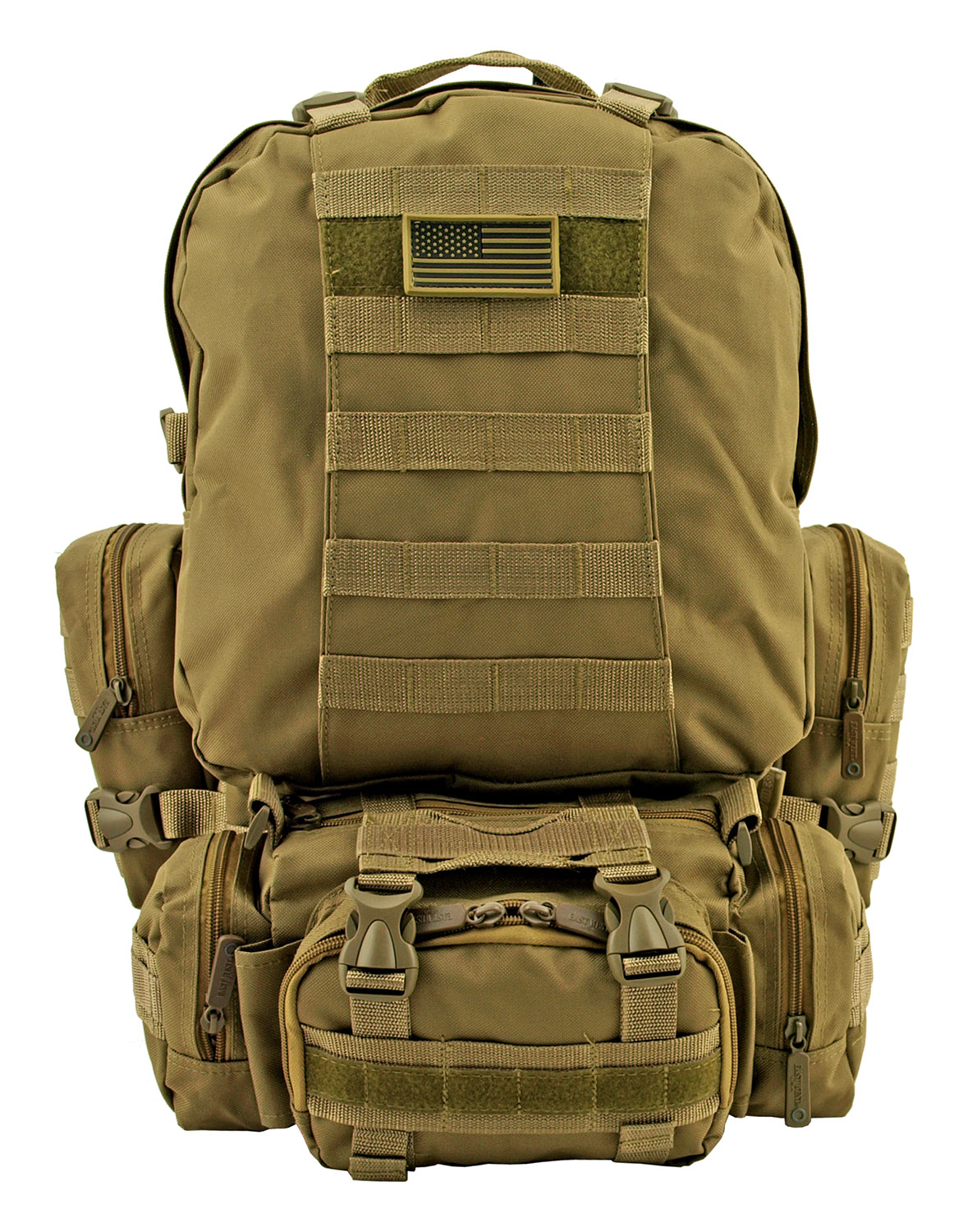 Large Tactical Assault Rucksack Backpack - Desert Tan