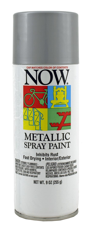 Spray Can of Silver Metallic Metal Spray Paint from Krylon