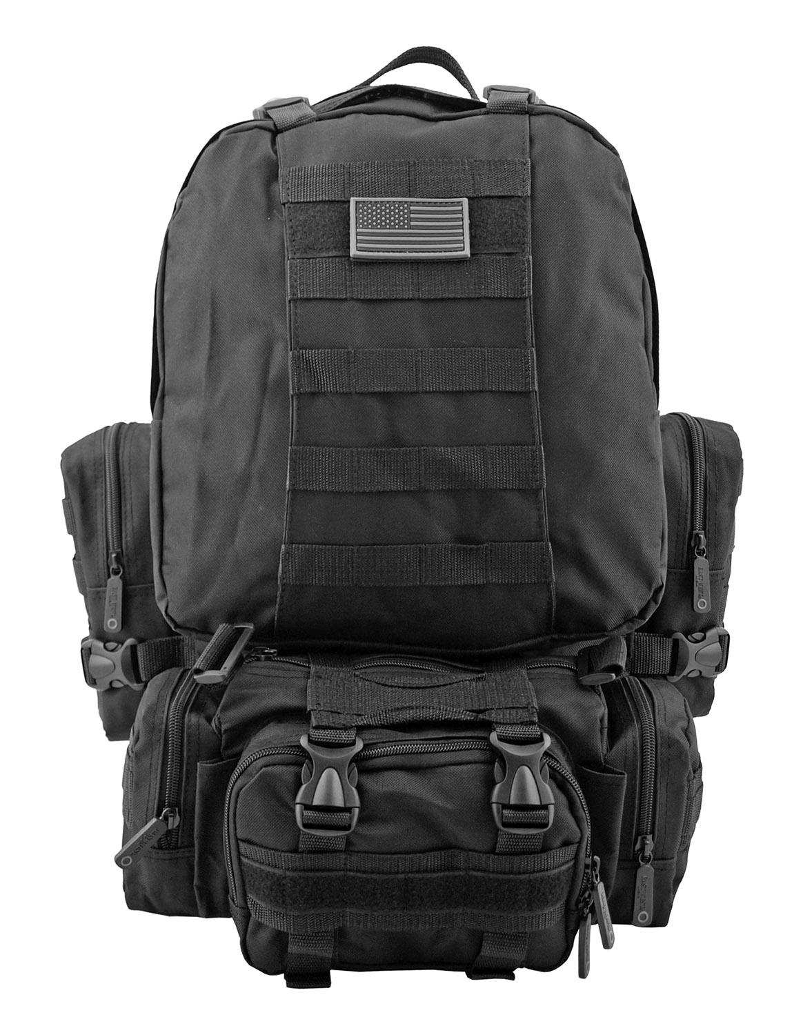 Large Tactical Assault Rucksack Backpack - Black
