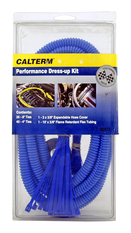 Calterm Performance Engine Hose Dress-Up Cover Kit - Blue