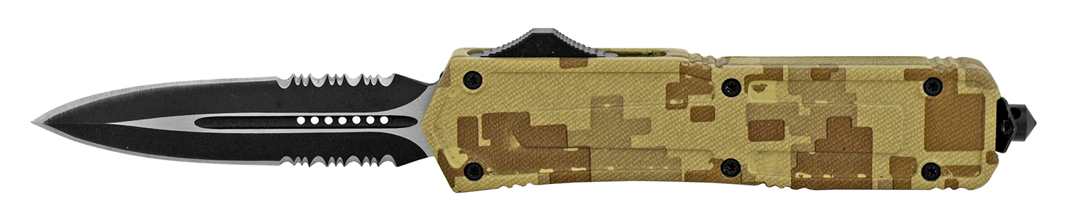 5.25 in Out the Front Stainless Steel Pocket Knife - Desert Digital Camo