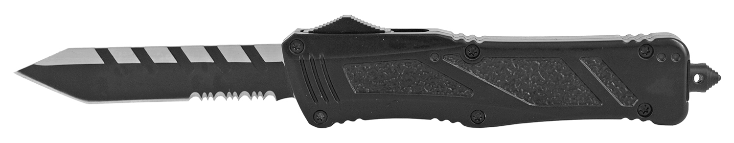 5.75 in Serrated Out the Front Pocket Knife - Black