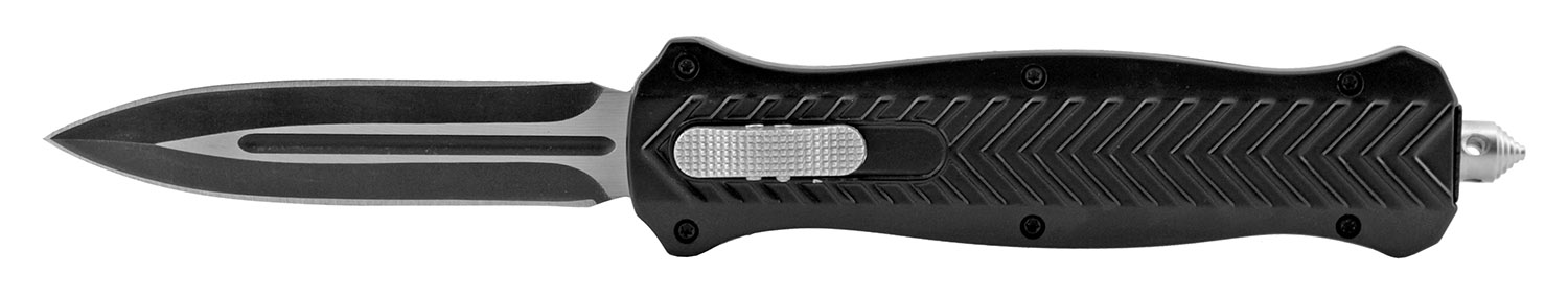 5.63 in Trax Stainless Steel OTF Folding Pocket Knife - Black