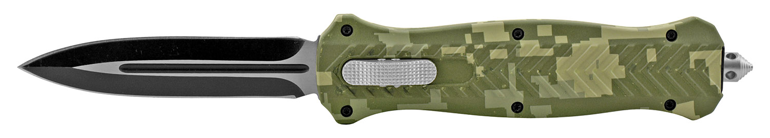 5.63 in Trax Stainless Steel OTF Folding Pocket Knife - Marine Digital Camo
