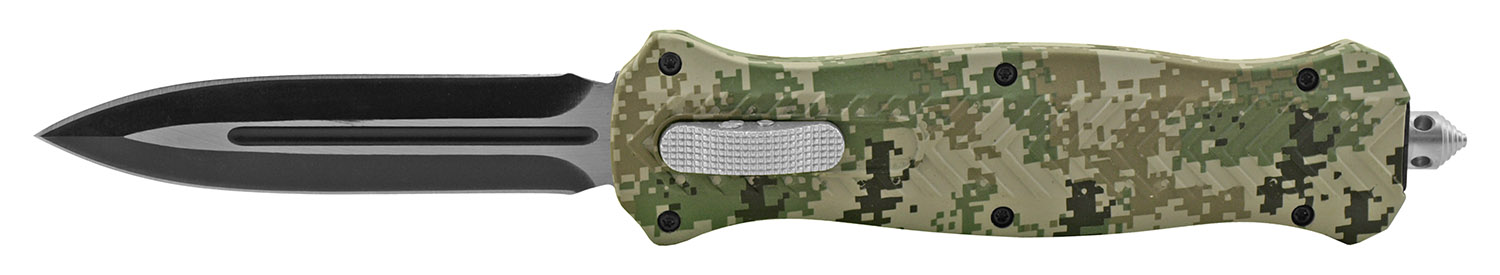 5.63 in Trax Stainless Steel OTF Folding Pocket Knife - Army Digital Camo