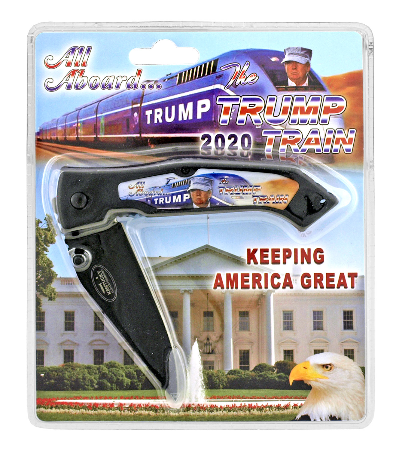 All Aboard the Trump Train 2020 Commerative Folding Pocket Knife
