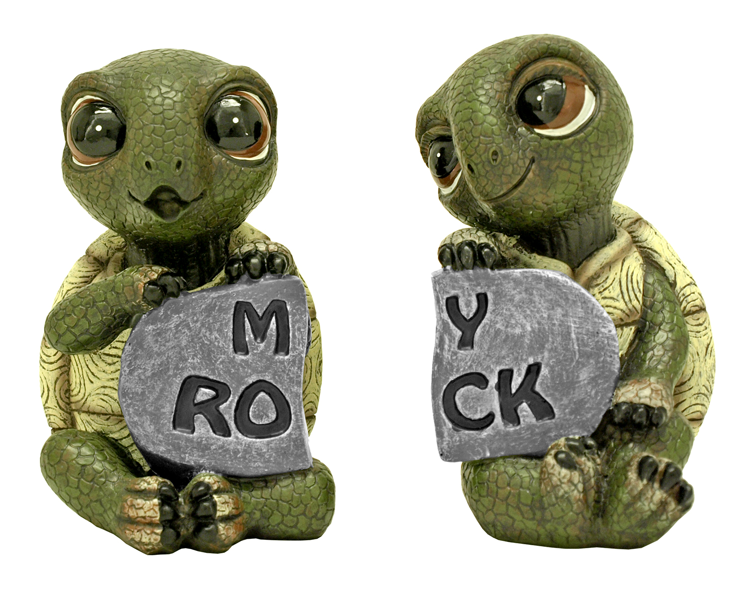 Rock Solid Love Turtle Statue Figurine