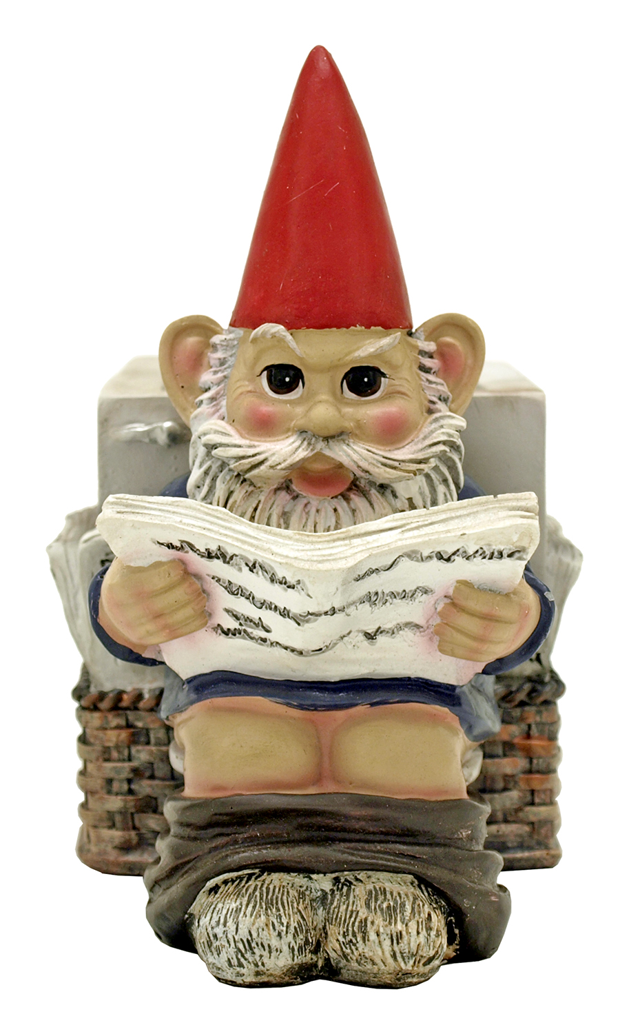 Serious Business Pooping Gnome Toothbrush Holder Figurine