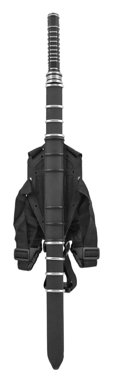 Ninja Warrior Samurai Katana with Carrying Back Harness and Matching Sheath - Black and White