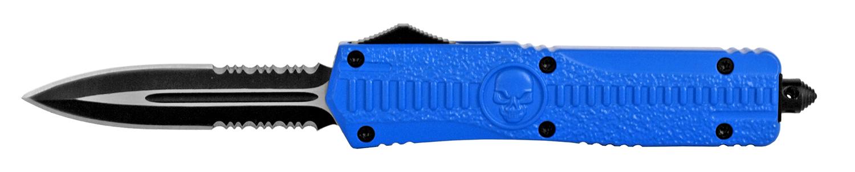 5.5 in Stainless Steel OTF Pocket Knife - Blue