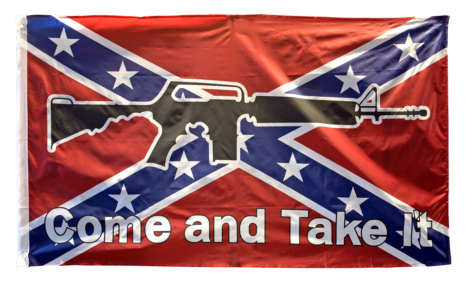 3' x 5' Come and Take It Confederate Flag - AR-15