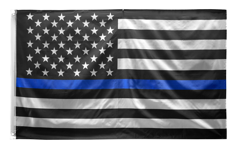 3' x 5' Thin Blue Line American U.S. Flag - Police
