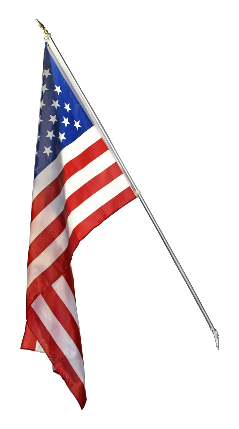 3' x 5' American U.S. Flag Kit with Pole