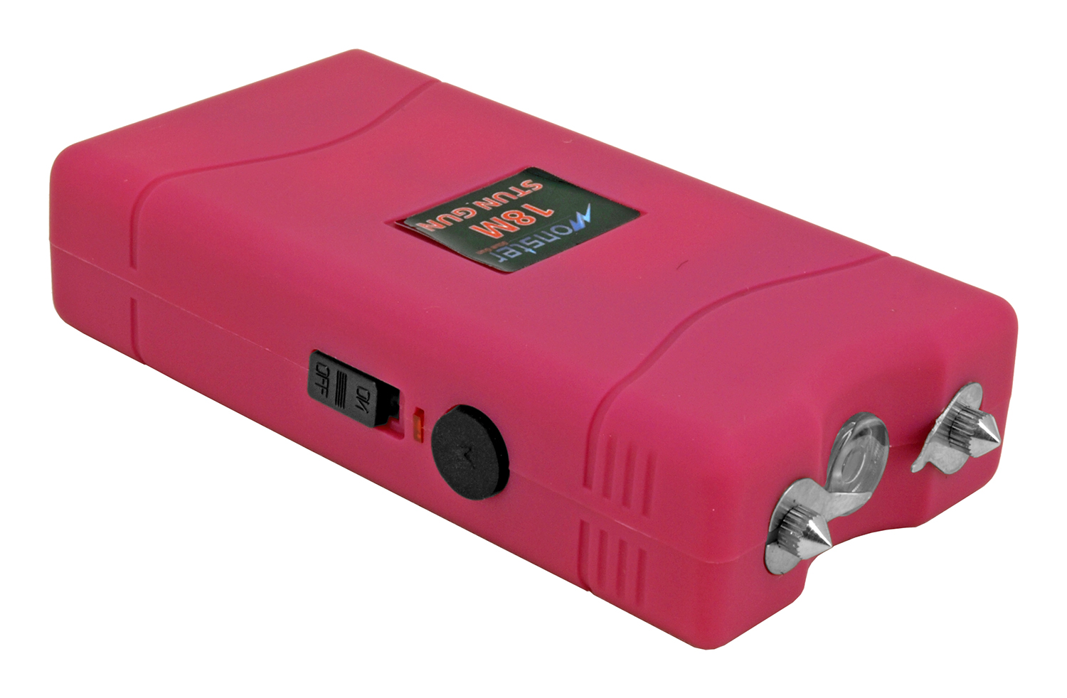 High Voltage Stun Gun with LED Flashlight - Pink