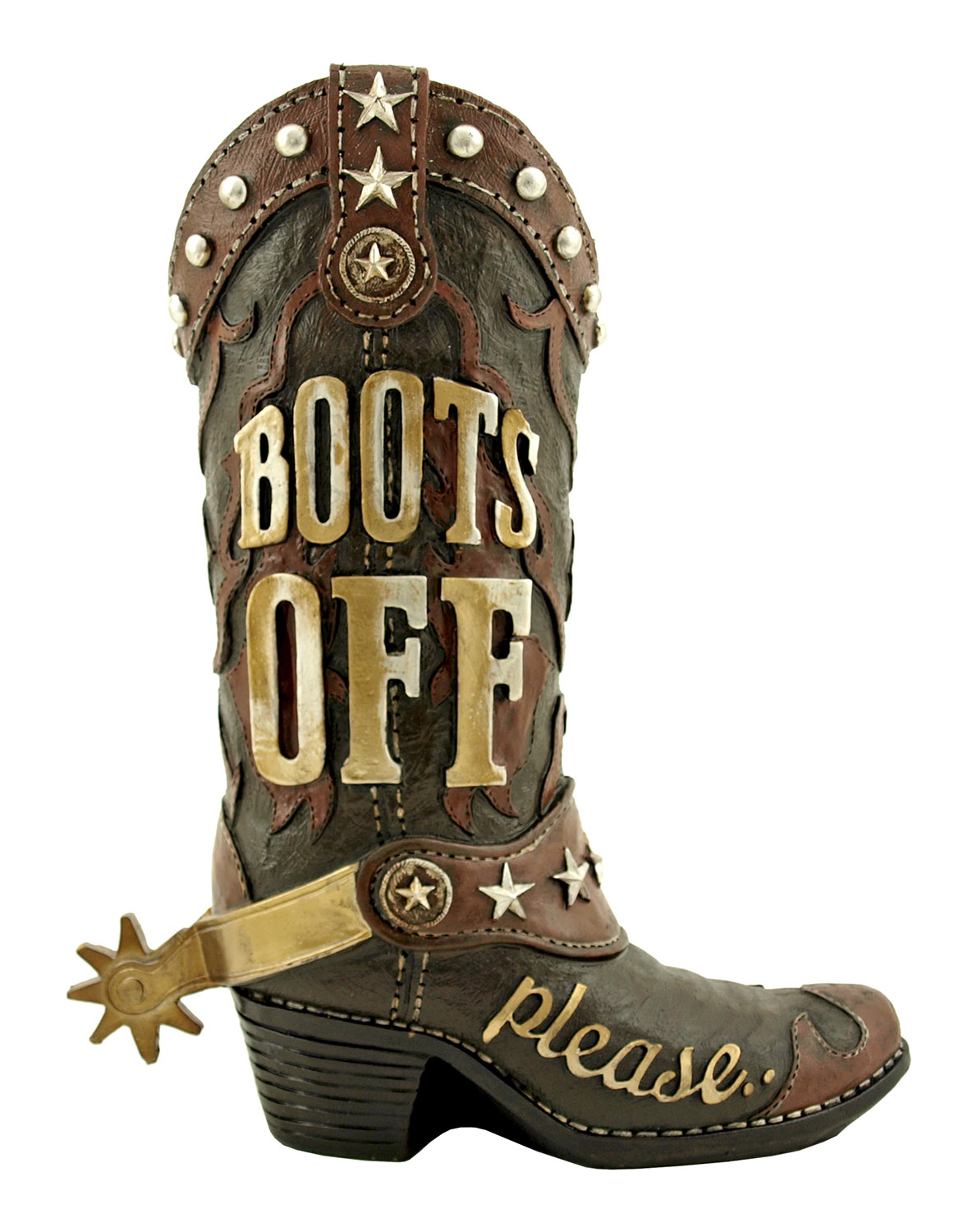 Take Yer Boots Off - Cowboy Boot Door Greeting Statue - DWK