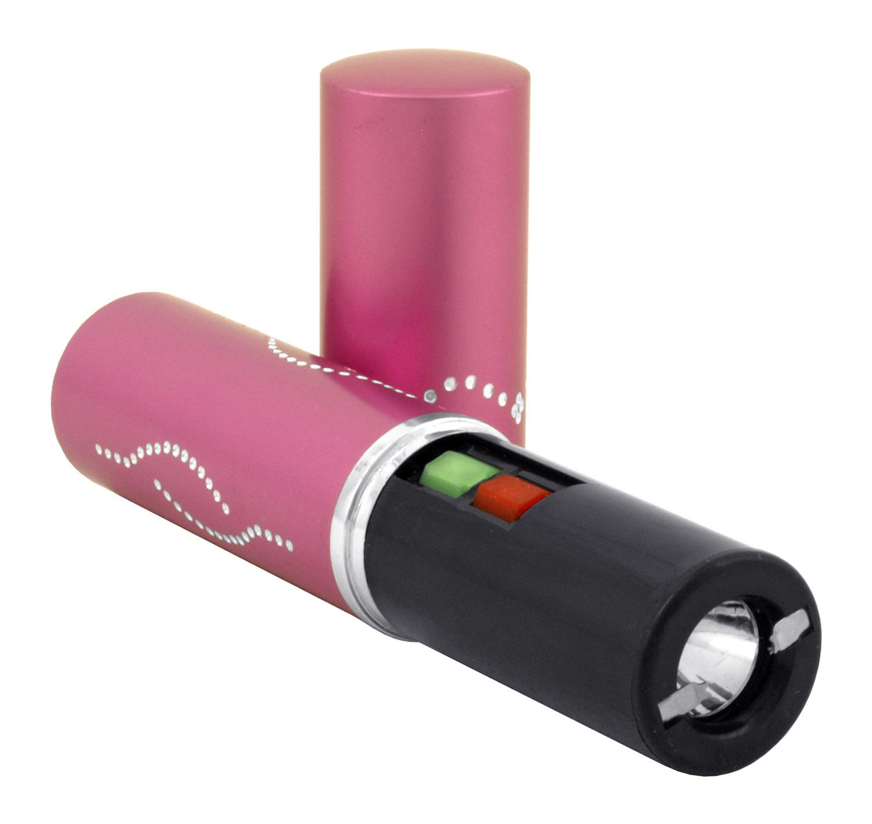 Lipstick Stun Gun with Flashlight - Pink