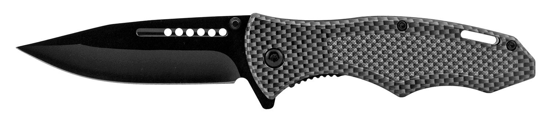 5 in Drop Point Spring Assisted Folding Pocket Knife - Carbon Fiber
