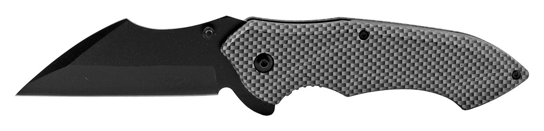 5 in Spring Assisted Sheepfoot Blade Folding Pocket Knife - Carbon Fiber