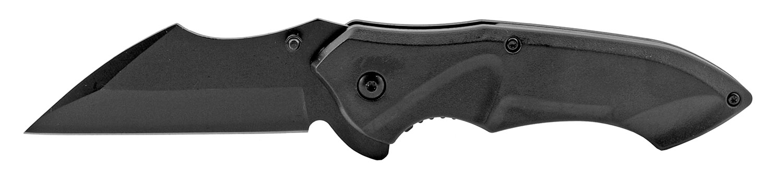 5 in Spring Assisted Sheepfoot Blade Folding Pocket Knife - Black