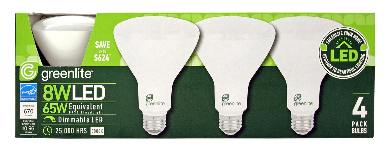 4 pk. BR30 Floodlight LED Light Bulb - 670 Lumens - 3000k