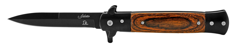 5 in Spring Assisted Stiletto Folding Pocket Knife - Black