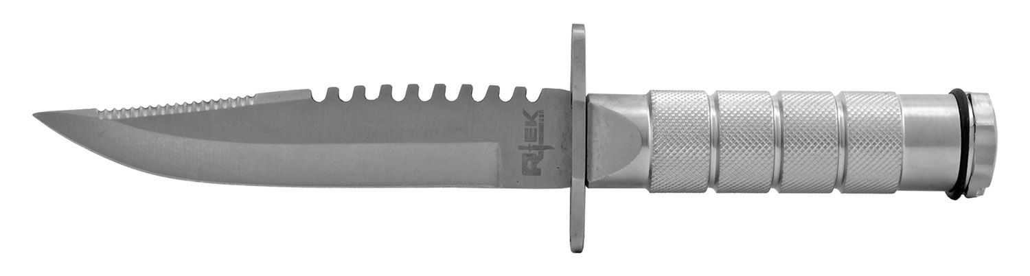 8.5 in Stainless Steel Survival Knife - Silver