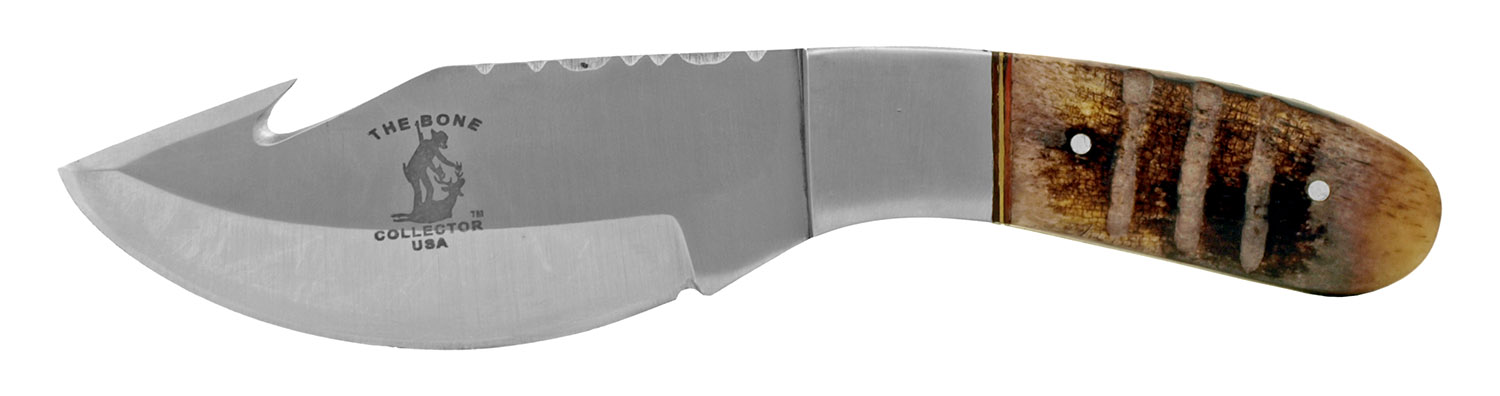 7.38 in Gut Hook Cowboy Hunting and Fishing Pocket Knife - The Bone Collector