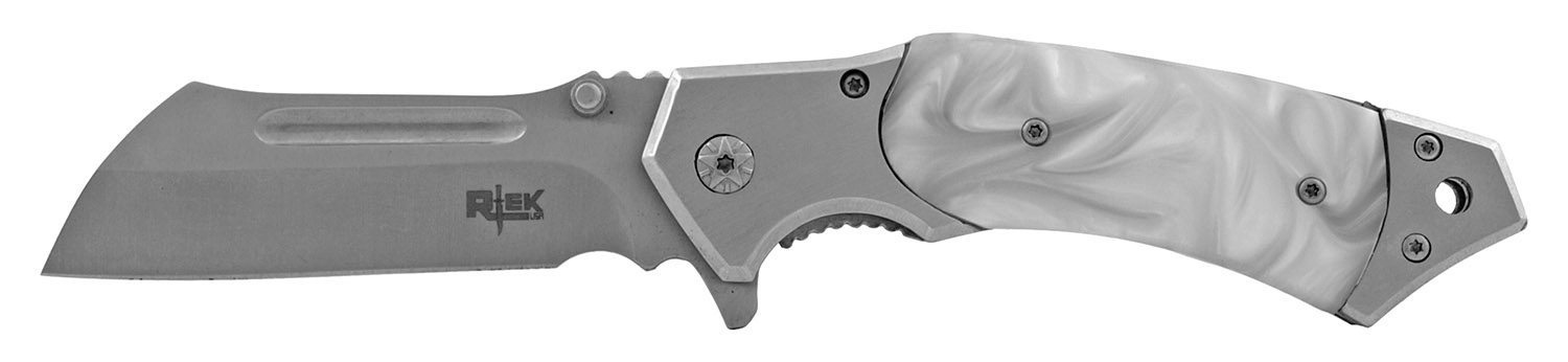 4.75 in Box Cutter Styled Folding Pocket Knife - White