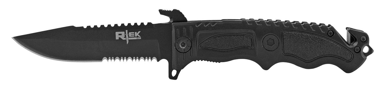 4.75 in R-Tek Tactical Rescue Folding Pocket Knife - Black