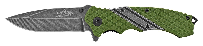 4.75 in Dura-Grip Folding Pocket Knife - Green