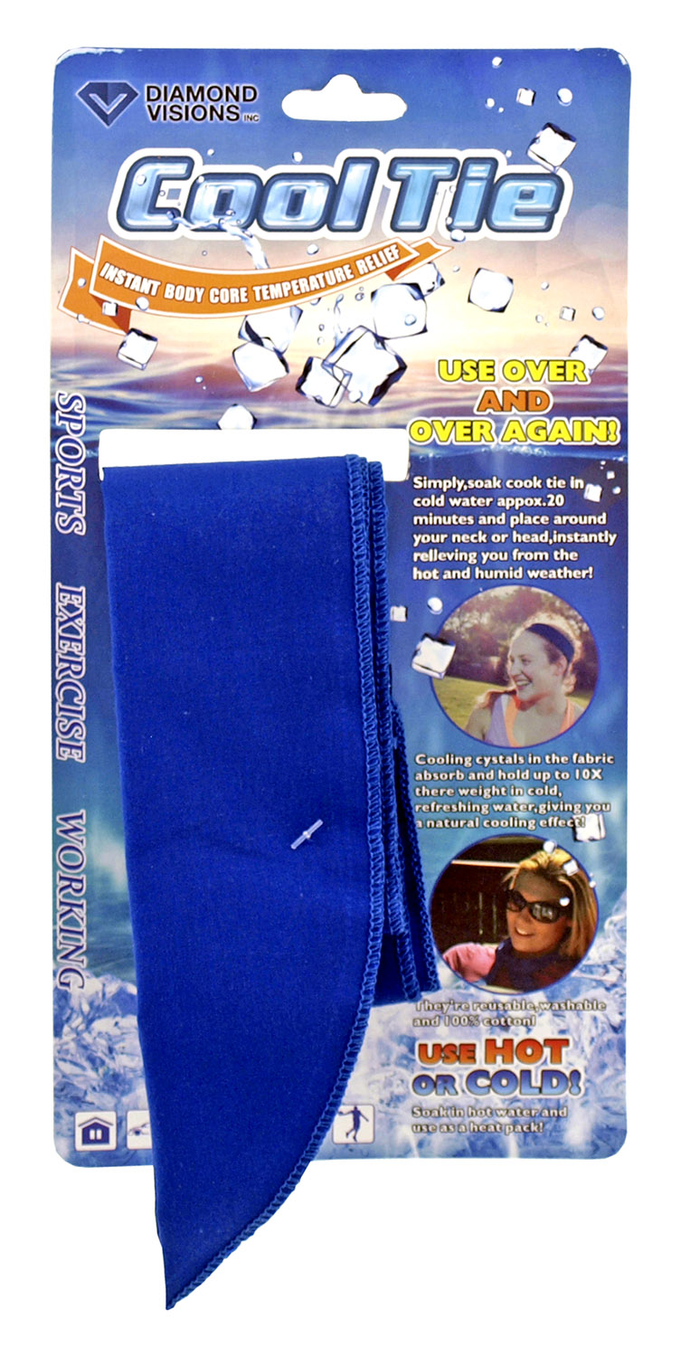 Cool Tie - Cooling Neck Wrap Snap Towel - Assorted Colors