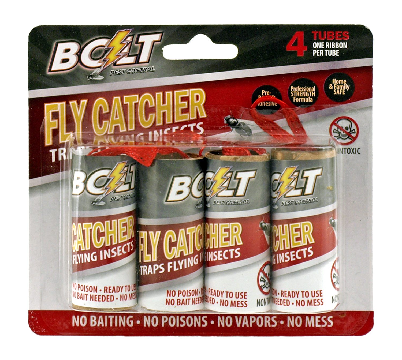 4 pk. Fly Catcher Ribbon Tube Traps - Bolt