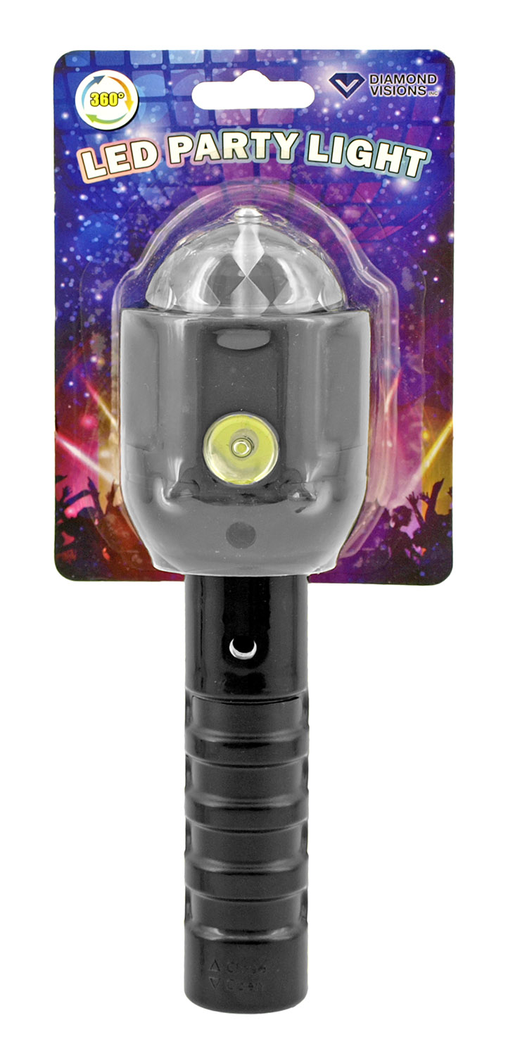 Dual Function LED Party Light with Flashlight - Assorted Colors