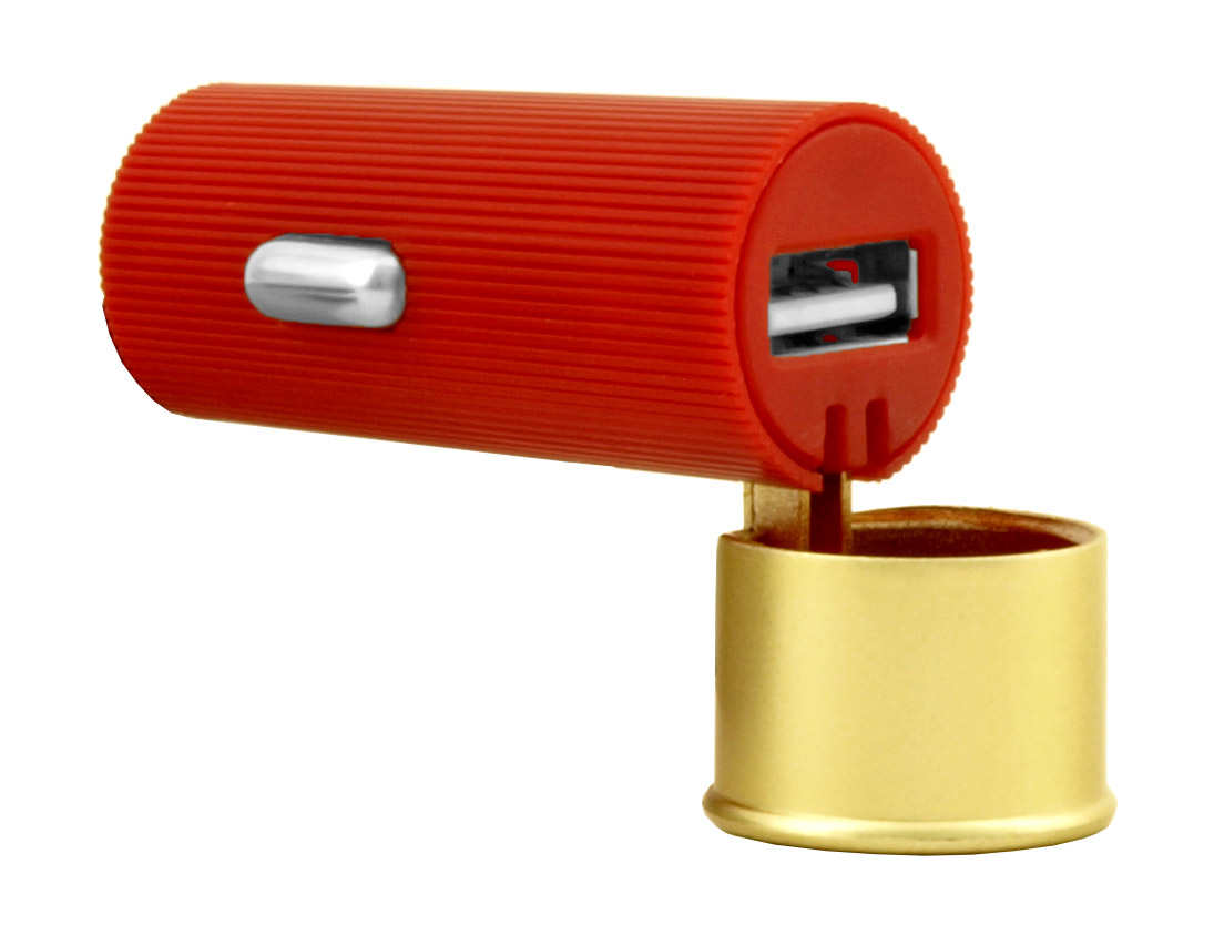 Car or Truck Shotgun Shell Cigarette Lighter USB Phone Charger Adapter