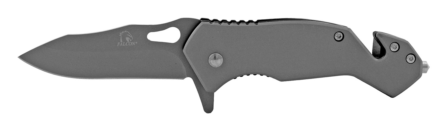 3.75 in Spring Assisted Tactical Pocket Knife - Grey