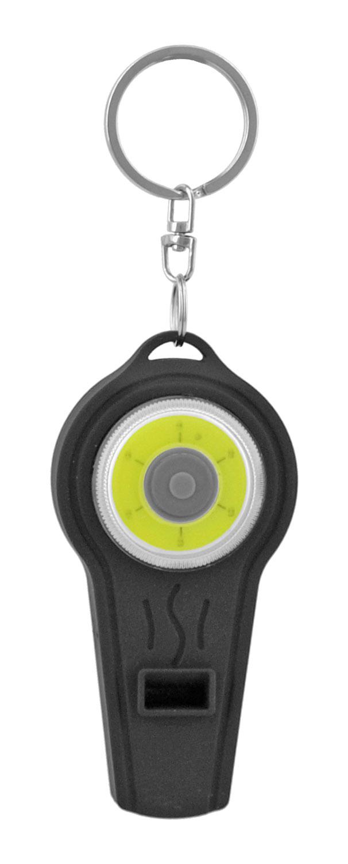LED Flashlight and Whistle Keychain