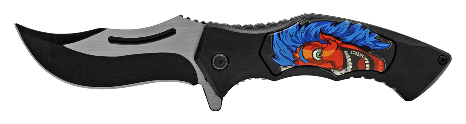4.75 in Carver Folding Pocket Knife - Joker