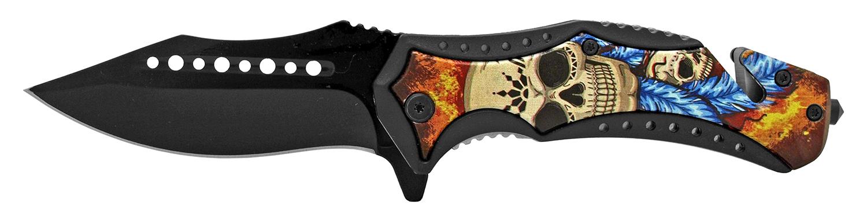 5 in Rescue Folding Pocket Knife - Muerte Craneo