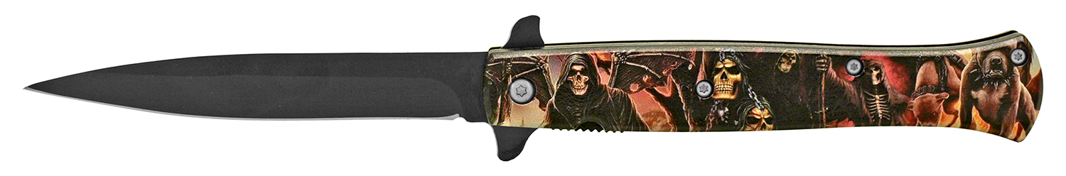 5 in Stiletto Folding Pocket Knife - The Reaper's Pit
