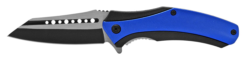 4.88 in Wave Runner Folding Pocket Knife - Blue