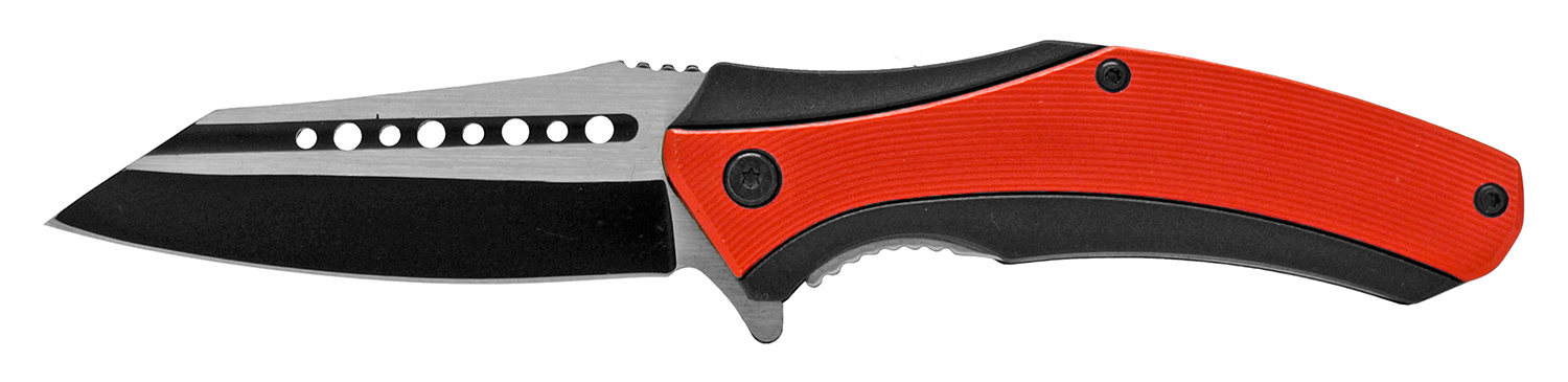 4.88 in Wave Runner Folding Pocket Knife - Red